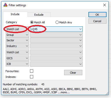 analysis filter